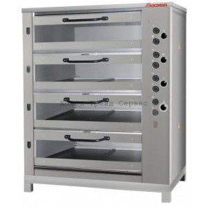 Печь хлебопекарная Восход ХПЭ-750/4С (нержавеющая облицовка, стеклянные дверки)
