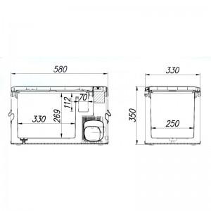 Компрессорный автохолодильник Alpicool MK 25