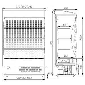 Горка холодильная Carboma F 20-07 VM 0,7-2 (ВХСп-0,7)