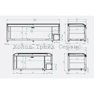 Ларь-витрина низкотемпературный ЛВН 1850 (ЛБТ2 М 1850) СП