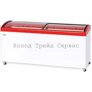 Морозильный ларь СНЕЖ МЛГ-700 с гнутым стеклом