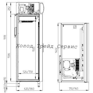 Холодильный фармацевтический шкаф Polair ШХФ-1,0ДС