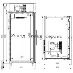 Холодильный фармацевтический шкаф Polair ШХКФ-1,4