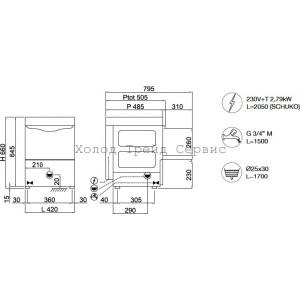 Посудомоечная машина Compack G3527 Aris (Италия)