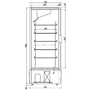Холодильный шкаф Ариада R1400 VC