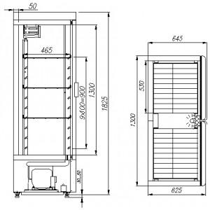 Холодильный шкаф Полюс Carboma ШХ-0,8 К (купе)