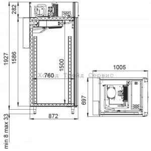 Холодильный шкаф Polair CS107 Salami (со стеклянной дверью)