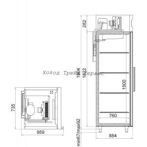 Морозильный шкаф Polair CB107-S (ШН-0,7)