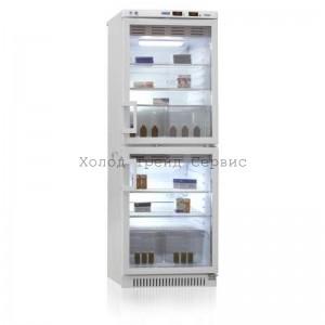Холодильник фармацевтический двухкамерный ХФД-280 «POZIS» тонированное стекло