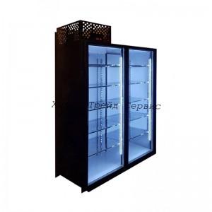 Холодильный шкаф со стеклянными дверьми ШХС-1,65.2  (2-х дверный)
