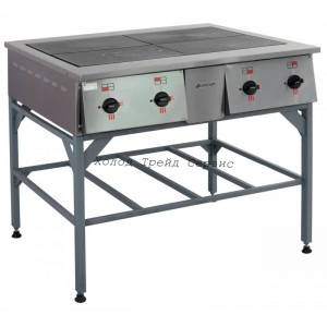 Плита электрическая 4х-конфорочная ПЭ-0,48Н, на подставке (нерж.)