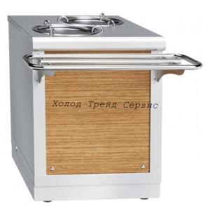 Прилавок для подогрева тарелок Abat ПТЭ-70Х-80 (80 тарелок, 2х240 мм, 630 мм)