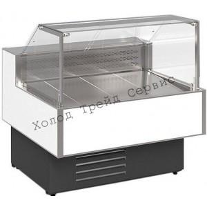 Холодильная витрина Cryspi Gamma Quadro SN 1500 LED (с боковинами)