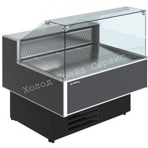 Холодильная витрина Cryspi Gamma Quadro SN 1200 LED (с боковинами)