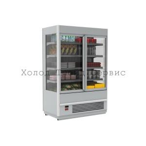Витрина-горка для демонстрации мяса Carboma FC 20-07 VV 1,0-3 X7 0430 (распашные двери, структурный стеклопакет)
