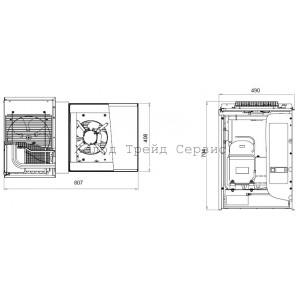 Потолочный низкотемпературный моноблок Polair MB 109 T
