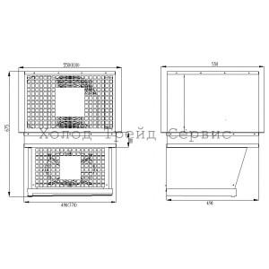 Потолочный моноблок Полюс MLR 109 (МНп 108 Dixell)