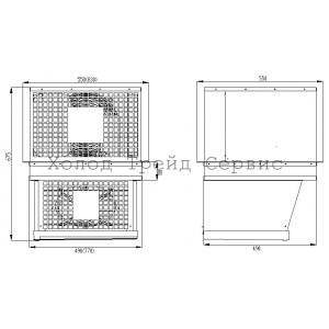 Моноблок потолочный MMR 115 (МСп 115 Dixell)