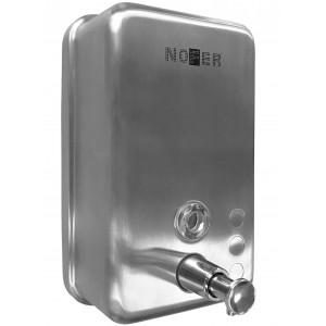 Диспенсер для мыла Nofer 1200 мл вертикальный, матовый, (нерж)