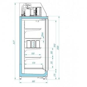 Горка низкотемпературная Italfrost ШН 1.80-6.0 Anzio LT 3D 2343