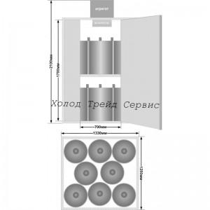 """Кегератор-камера для пива """"Шкаф"""" Ш-16 (16 кег)"""