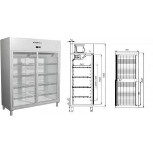 Холодильный шкаф Carboma R1400К (купе)