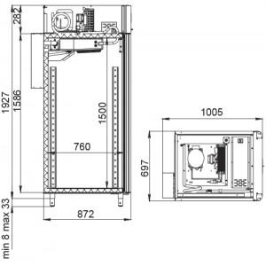 Холодильный шкаф Polair CS107-Cheese (созревание сыров)