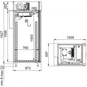 Холодильный шкаф Polair CS107-Meat (созревание мяса)