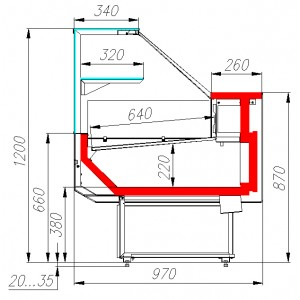 Витрина холодильная Carboma GC95 PALM 2 GC95 SM 1,0-1 (ВХС-1,0 Carboma GC95 )