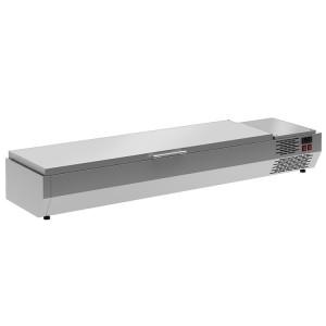 Витрина холодильная Carboma A40 SM 1,2 0430 (VT2-G) (3 GN 1/3) с крышкой