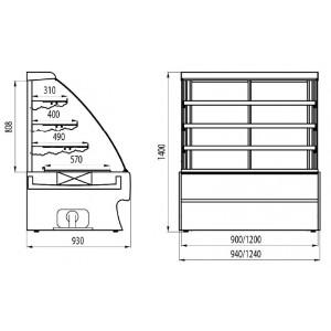Холодильная витрина Cryspi Elegia premium К 1240