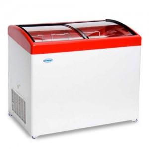 Морозильный ларь СНЕЖ МЛГ-350 с гнутым стеклом