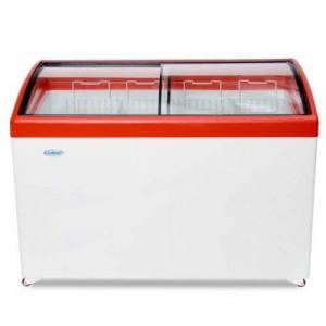 Морозильный ларь СНЕЖ МЛГ-400 с гнутым стеклом