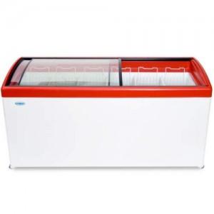 Морозильный ларь СНЕЖ МЛГ-600 с гнутым стеклом